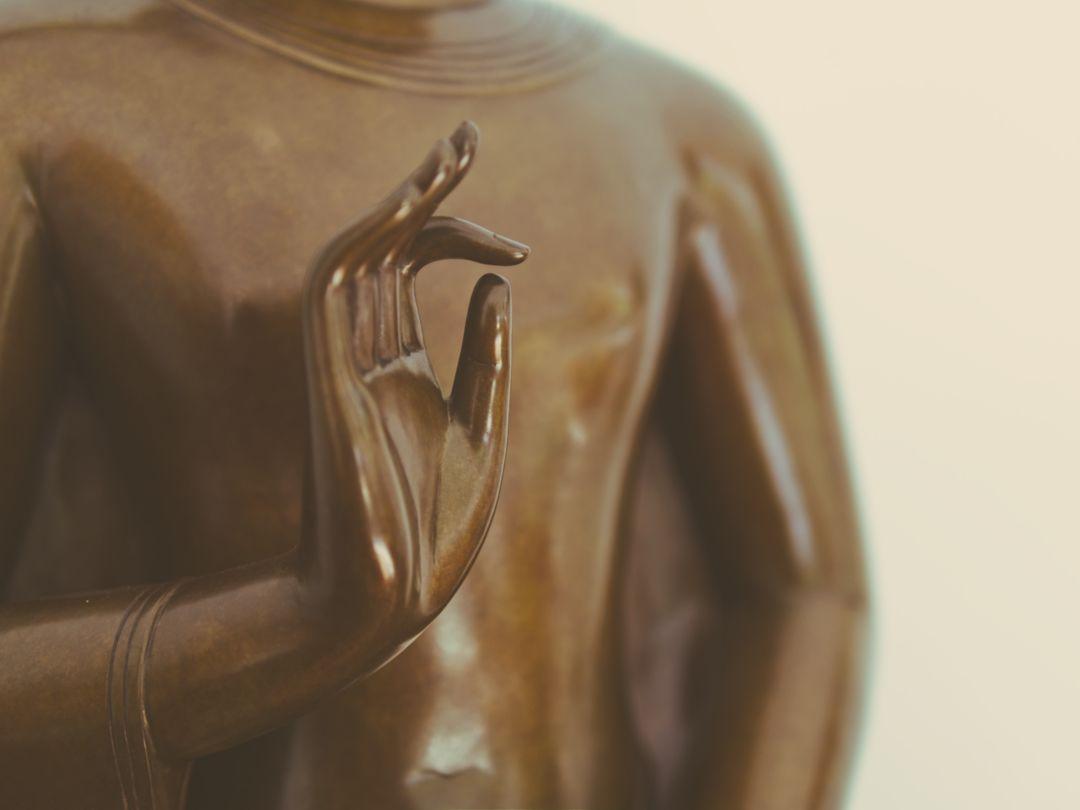 sculpture of Buddhist monk