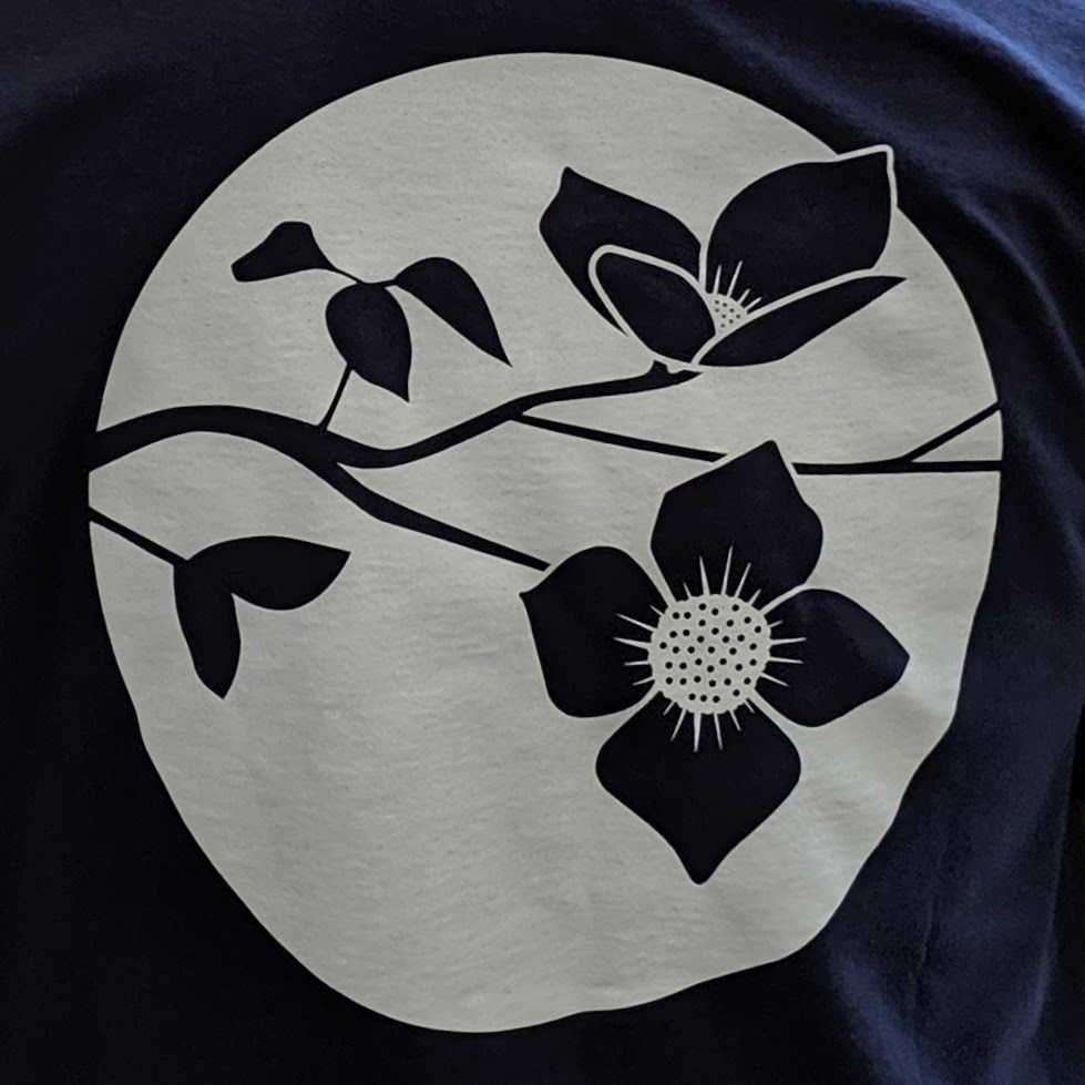 Pacific Hermitage dogwood flower flag